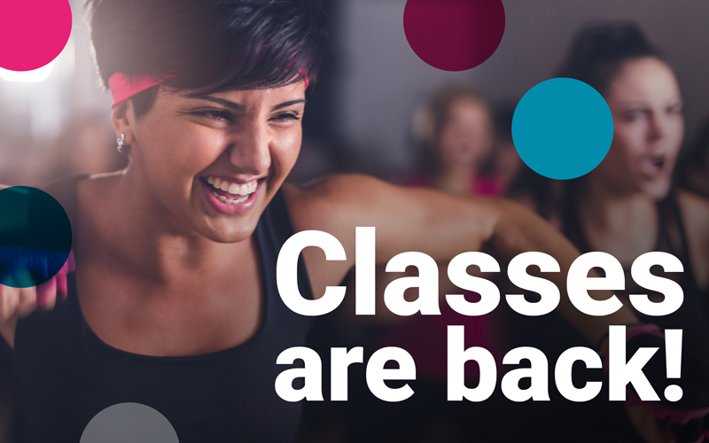 Indoor Group Exercise Classes are back!