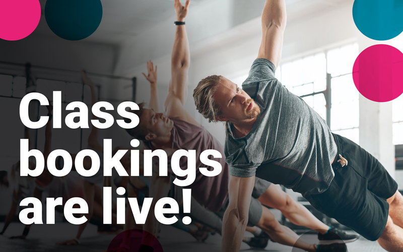 Class Bookings Are Now Live!